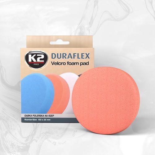 Duraflex - pomarańczowa gąbka polerska m14 gąbka średniościerna, twarda - szt marki K2