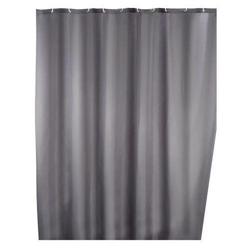 Wenko Zasłona prysznicowa, tekstylna, szara, 180x200 cm,