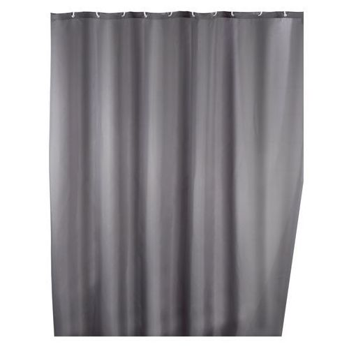 Zasłona prysznicowa, tekstylna, szara, 180x200 cm, WENKO (4008838120552)
