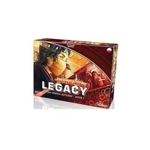 Pandemic legacy (pandemia). edycja czerwona. gra planszowa marki Lacerta