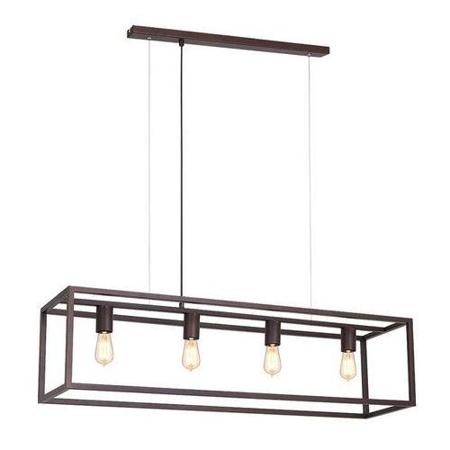 Lampa wisząca frame 4 x 60 w e27 mosiądz marki Luminex