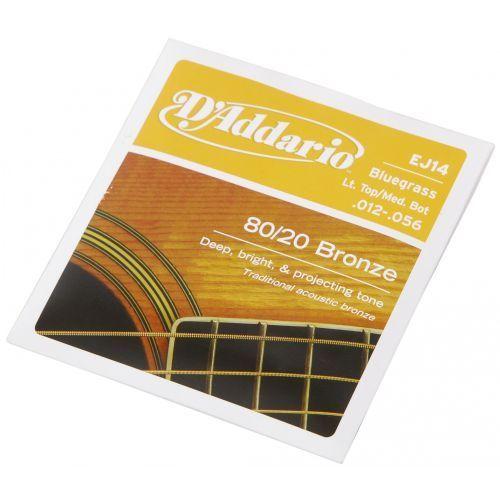 ej-14 struny do gitary akustycznej 80/20 bronze bluegrass 12-56 marki D′addario