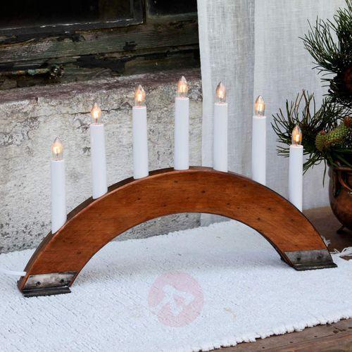 Best season Czerwonoobrązowy świecznik viking bow, 7-pkt. (7391482247261)