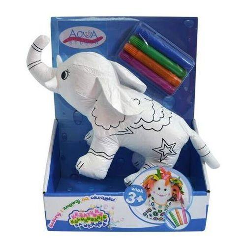 Koloruj na okrągło - słoń