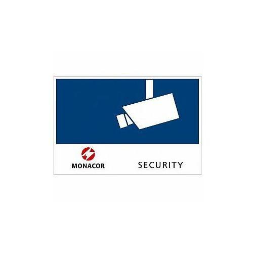 cctv-labl/os tabliczka samoprzylepna security, do montażu na zewnątrz marki Monacor
