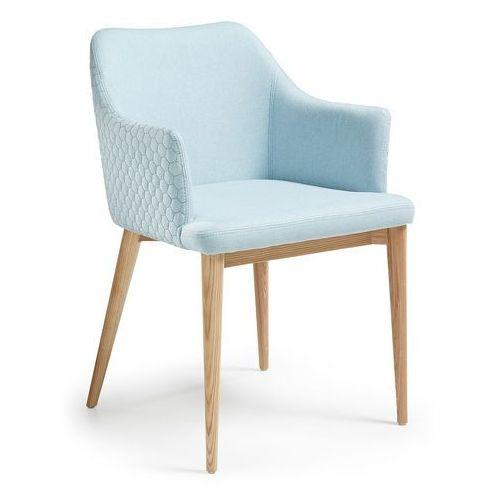 9design Krzesło erida z podłokietnikami jasnoniebieskie - niebieski