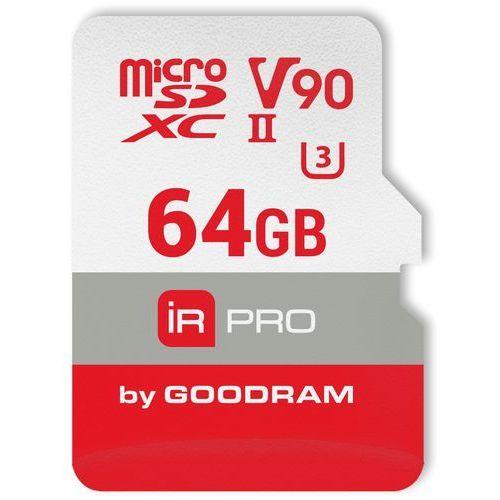 Goodram microsdxc 64gb v90 uhs-ii u3 280/240 mb/s iridium pro (5908267920237)