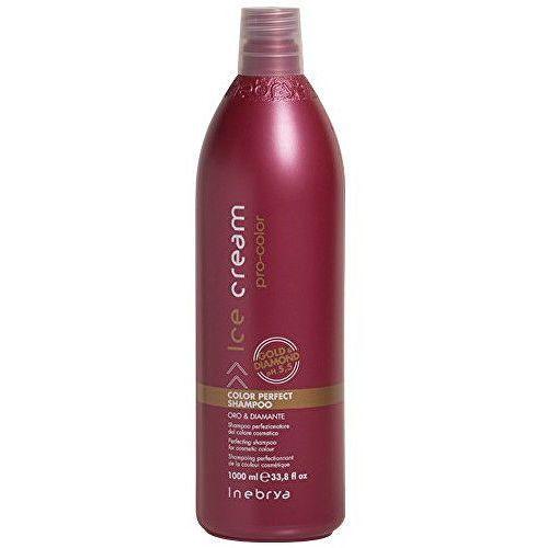 Inebrya ice cream pro-color szampon do włosów farbowanych (perfecting shampoo for cosmetic colour, gold & diamond ph 5,5) 300 ml (8033219160946)