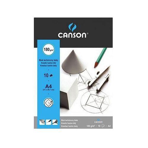 Canson Blok techniczny a4 biały 10 arkuszy 180g/m2