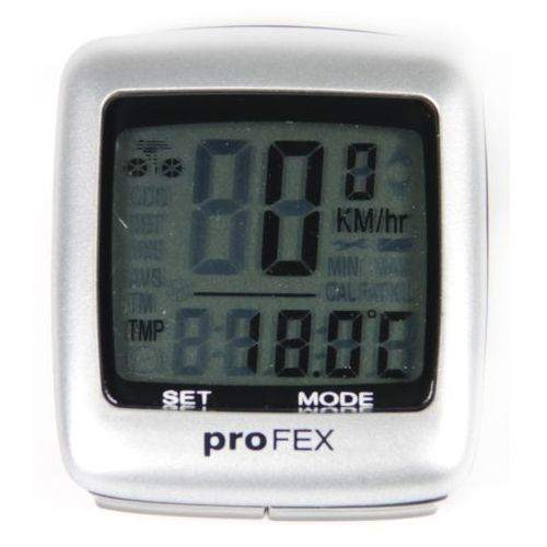 Licznik rowerowy PROFEX 21 Funkcji Srebrny
