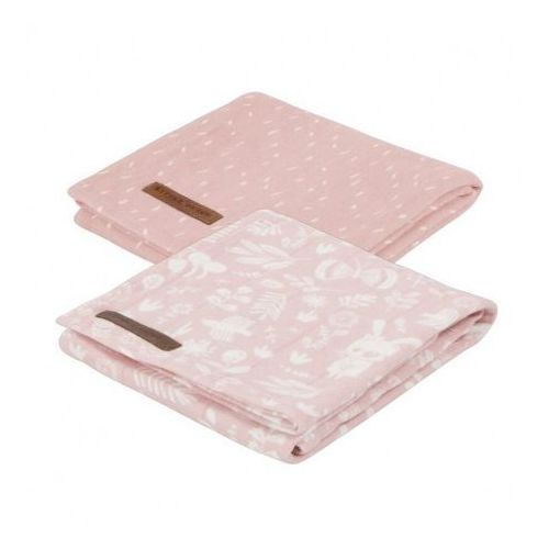 Little dutch Otulacze 2 szt. - adventure pink - 70x70 cm -