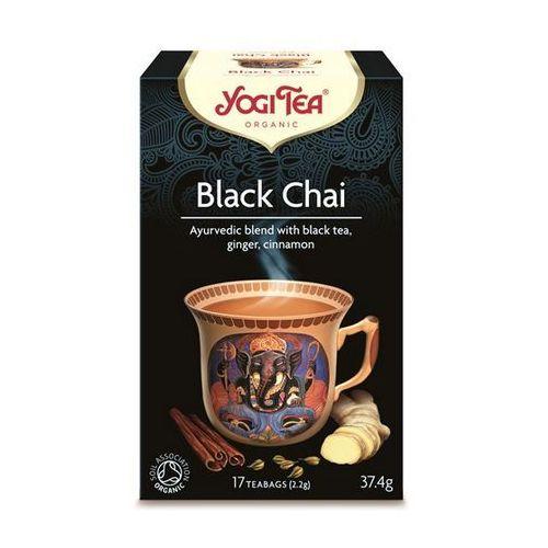 Herbata czarna black chai z imbirem i cynamonem (yogi tea) 17 saszetek po 2,2g marki Yogi tea, usa