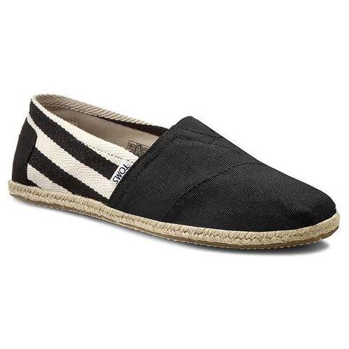 Toms Espadryle - classic 10005414 black stripe