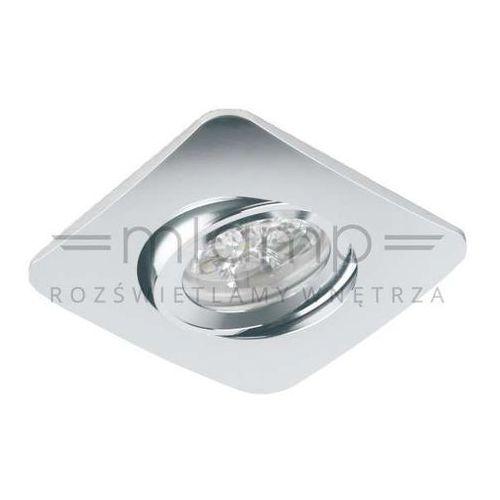 Oczko LAMPA sufitowa BELLO Orlicki Design metalowa OPRAWA regulowana wpust kwadratowy EZIO chrom (1000000281460)