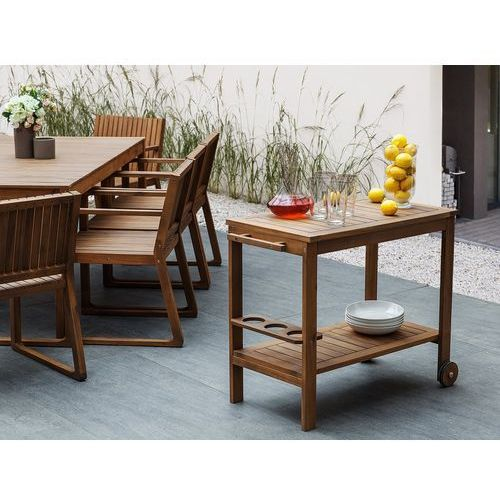 Stolik drewniany na kółkach CASERTA (4260586356489)