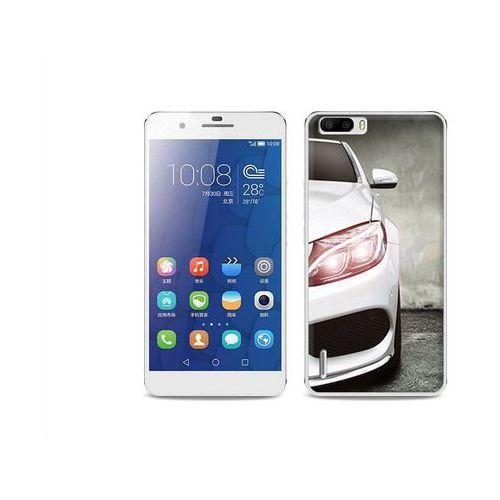 Foto Case - Huawei Honor 6 Plus - etui na telefon Foto Case - biały samochód (Futerał telefoniczny)