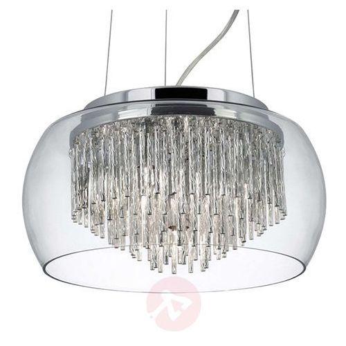 Curva lampa wisząca 4 metal/szkło kryształowe marki Searchlight