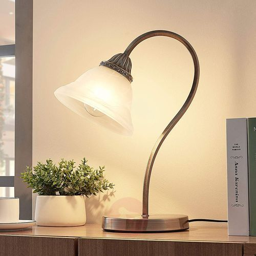 Wygięta lampa stołowa MIALINA, LED E27