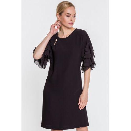 Sukienka w czarnym kolorze - Margo Collection, kolor czarny