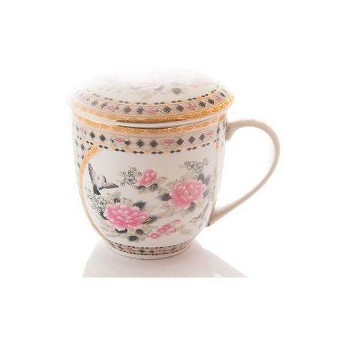 Marco polo Kubek z zaparzaczem sitkiem do herbaty porcelanowy