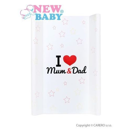 Nadstawka na łóżeczko New Baby I love Mum and Dad biała 50x80 cm