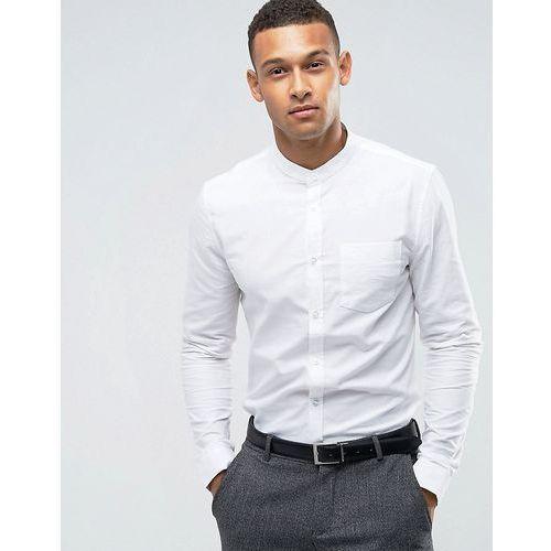 Threadbare Premium Stretch Cotton Slim Fit Shirt - White, kolor biały