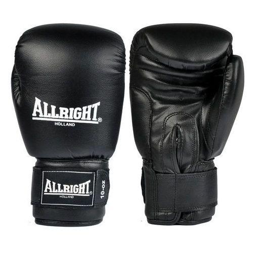 Rękawice bokserskie Allright PVC czarne - Zielony