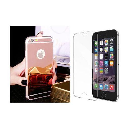 Slim mirror / perfect glass Zestaw   slim mirror case różowy + szkło ochronne perfect glass   etui dla apple iphone 6 / 6s
