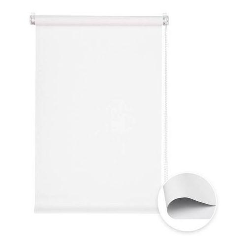 Roleta materiałowa bezinwazyjna, przyciemniająca, gotowa, basic, biała, 50x150cm marki Victoria-m