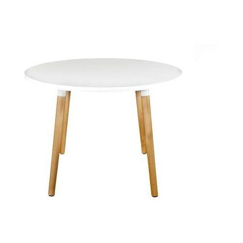Stół copine okrągły biały/ naturalny 100 cm marki D2.design