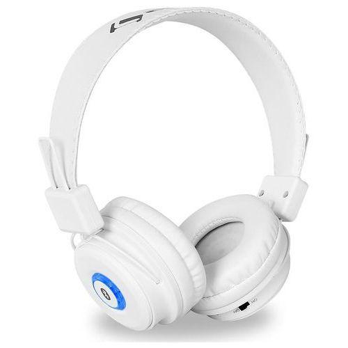 Auna DBT-1 słuchawki z bluetooth białe zestaw głośnomówiący Zamów ten produkt do 21.12.16 do 12:00 godziny i skorzystaj z dostawą do 24.12.2016