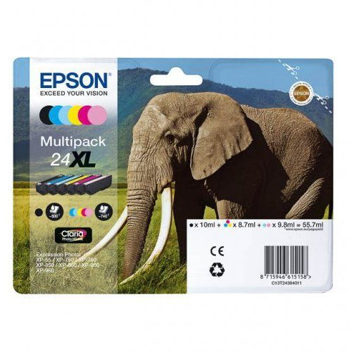 Zestaw tuszy 24xl / t2438 xl / c13t24384011 do drukarek (oryginalny) marki Epson