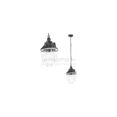 Spotlight Industrialna lampa wisząca port 1305132 druciana oprawa metalowa zwis na łańcuchu klatka drut szary