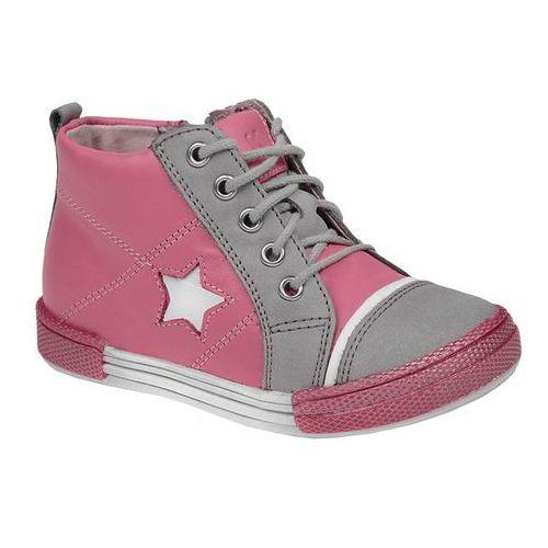 Trzewiki nieocieplane buty KORNECKI 3883 skórzane - Multikolor ||Różowy ||Szary, kolor wielokolorowy
