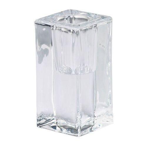 Bolsius Świecznik szklany na świecę stołową wys. 8 cm transparentny