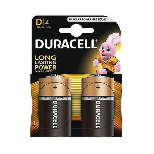 Baterie alkaliczne Duracell Basic D LR20 1,5V, 2 szt.