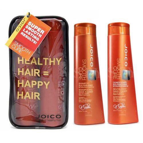 Joico smooth cure | zestaw wygładzający bez siarczanów: szampon 300ml + odżywka 300ml (9753197531409)