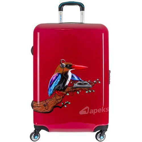 BG Berlin URBE duża walizka na 4 kółkach / 78 cm / Tropical Sound 2 - czerwony (6906053043015)
