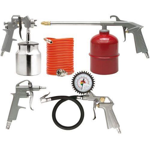 Zestaw lakierniczy, pistolet ze zbiornikiem dolnym, kpl.5szt. Vorel 81637 - ZYSKAJ RABAT 30 ZŁ, 81637