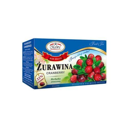 herbata owocowa żurawina 20tb certyfikat marki Malwa tea