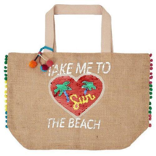 S.oliver torba plażowa damska beżowa