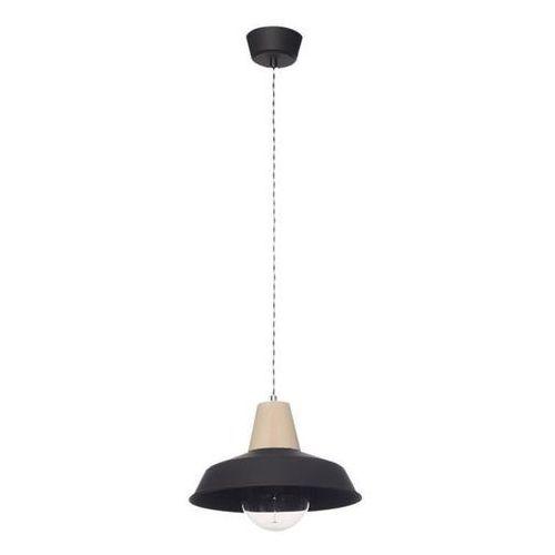 Lampa wisząca melania z czarna/drewno - czarny marki Lampex