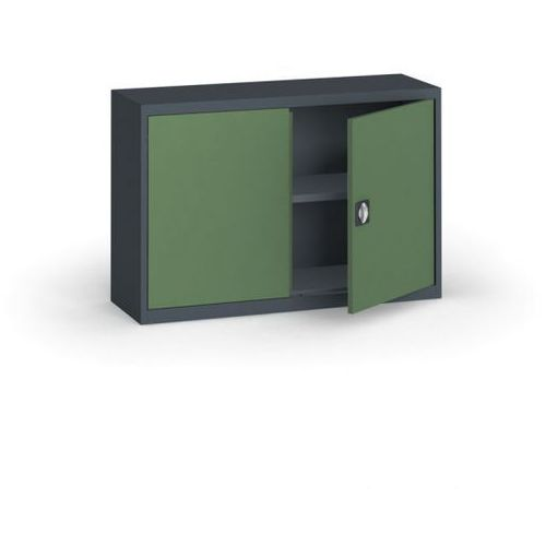 Alfa 3 Szafa metalowa, 800 x 1200 x 400 mm, 1 półka, antracyt/zielony
