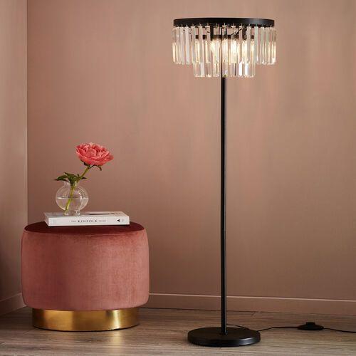 Markslojd ventimiglia 107775 lampa podłogowa 3x40w e14 czarny/przezroczysty