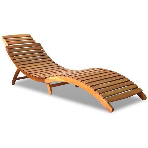 Vidaxl leżak z litego drewna akacjowego, 190x60x51 cm, brązowy