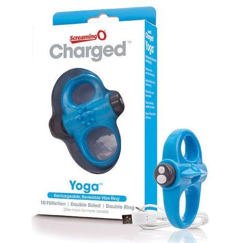 Screaming o Pierścień wibrujący na penisa - the charged yoga vibe ring niebieski