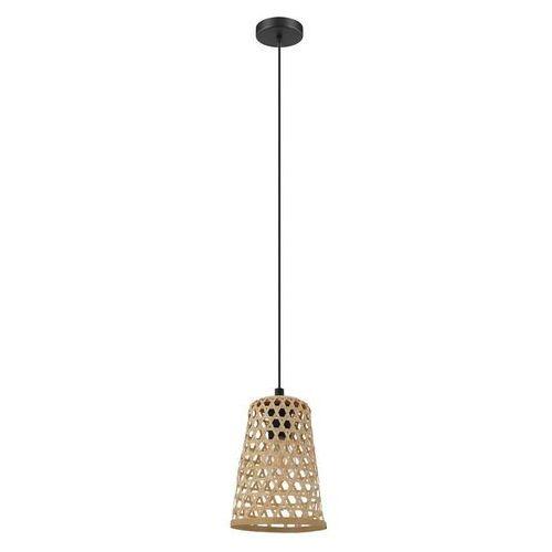 Eglo claverdon 43252 lampa wisząca zwis 1x40w e27 czarny/drewno (9002759432522)