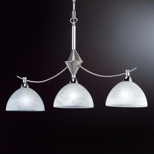 Honsel Amsterdam lampa wisząca Nikiel matowy, 3-punktowe - Klasyczny - Obszar wewnętrzny - Amsterdam - Czas dostawy: od 4-8 dni roboczych