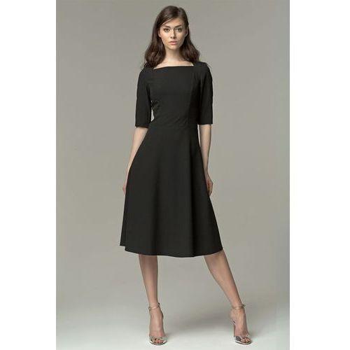 Sukienka midi - czarny - s63 marki Nife