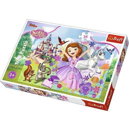 Trefl puzzle 24 elementy maxi - jej wysokość zosia, kolorowy świat zosi